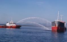 Cháy tàu chở dầu tại cảng Dung Quất, một người mất tích