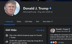 Facebook xóa mô tả Tổng thống của ông Trump