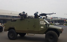 Cảnh sát vũ trang TP.HCM xuất quân bảo vệ sân bay Tân Sơn Nhất