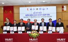 7 trường ĐH kỹ thuật ký hợp tác toàn diện về tuyển sinh, đào tạo, chuyển giao công nghệ
