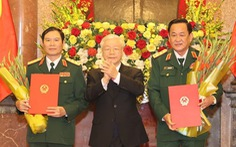Thăng quân hàm thượng tướng cho 2 thứ trưởng Bộ Quốc phòng