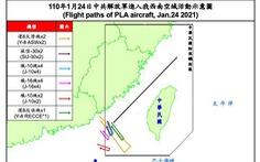 Đài Loan phản ứng: 'Chiến đấu cơ Trung Quốc tiếp tục bay vào ADIZ của Đài Loan'