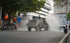 Quân khu 3 sử dụng xe chuyên dụng đồng loạt khử khuẩn tại Quảng Ninh, Hải Phòng
