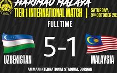 Tuyển Malaysia thua 0-4 và 1-5 ở hai trận giao hữu liên tiếp