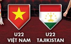 Lịch trực tiếp giao hữu U22 Việt Nam - U22 Tajikistan