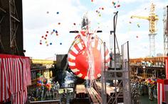 Nhật Bản hạ thủy tàu ngầm 'Cá voi trắng' nặng hơn 3.000 tấn