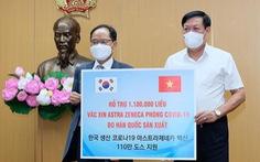 Bộ Y tế tiếp nhận gần 2 triệu liều vắc xin AstraZeneca do Ba Lan và Hàn Quốc tài trợ