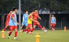 U23 Việt Nam tập bài chiến thuật cho trận giao hữu với U23 Kyrgyzstan tối nay