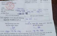 Quảng Trị vẫn buộc có giấy xét nghiệm âm tính với vùng vàng