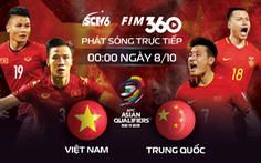 SCTV6 phát sóng trực tiếp trận Trung Quốc - Việt Nam thuộc Vòng loại 3 World Cup