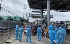 Kẹt xe tại cửa ngõ An Giang do người dân di chuyển tự do về quê