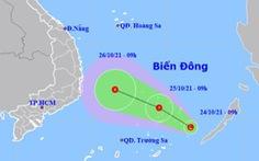 Thêm vùng áp thấp trên Biển Đông khả năng thành áp thấp nhiệt đới, hướng vào Nam Trung Bộ