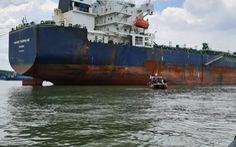 Tìm được vị trí sà lan chìm ở Cần Giờ, cách chỗ neo 60m