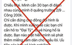 Đăng tin giả câu view để bán hàng online: 'Cần 30 bạn đi đánh nhau…'