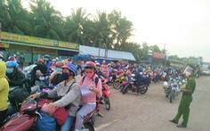 Các tỉnh miền Tây phân luồng để cách ly đối với người về quê bằng xe máy