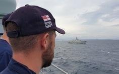 Chiến hạm Việt Nam diễn tập với khinh hạm Anh quốc