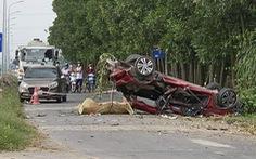 Ôtô con biến dạng trong vụ tai nạn 6 người thương vong ở Bắc Ninh quá hạn đăng kiểm 5 tháng