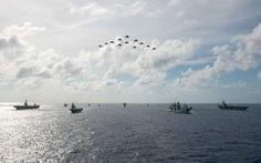 Tàu sân bay Anh, Mỹ tập trận ở Thái Bình Dương