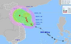Áp thấp nhiệt đới đi chậm lại, tương tác với không khí lạnh rất đáng lo