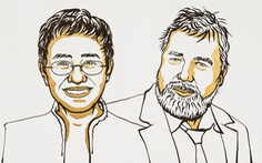 Hai nhà báo Philippines, Nga nhận giải Nobel Hòa bình 2021