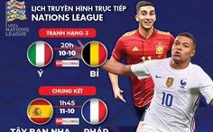 Lịch trực tiếp Nations League: Chung kết Tây Ban Nha - Pháp