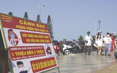 Bãi biển Vũng Tàu đông đúc ngày mùng 5 Tết