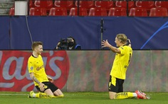 Haaland lập cú đúp, Dortmund thắng ngược Sevilla tại Tây Ban Nha