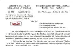 Giả công văn giám đốc Sở GD&ĐT Bình Phước 'cho học sinh nghỉ học đến ngày 14-3'