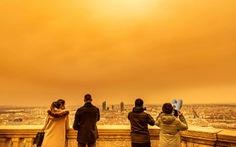 Cát bụi Sahara 'nhuộm cam' nhiều nơi của châu Âu