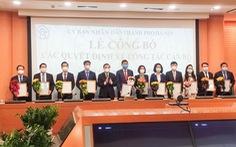 Hà Nội bổ nhiệm 4 giám đốc sở và chánh Văn phòng UBND TP