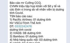 'TP.HCM họp khẩn về 20 ca nhiễm COVID-19 trong sân bay' là tin giả