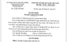 7 người ở Hà Nội bị phạt 52,5 triệu đồng vì đưa tin vịt về COVID-19