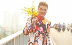 Đàm Vĩnh Hưng diện áo dài hình Hoài Linh, Lệ Quyên, Lam Trường... làm MV tết