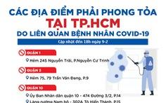 Đồ họa: 33 điểm phong tỏa tại TP.HCM vì COVID-19 là những điểm nào?
