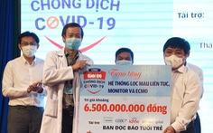 Báo Tuổi Trẻ trao tặng thiết bị y tế trị giá 6,5 tỉ đồng cho Bệnh viện Bệnh nhiệt đới TP.HCM