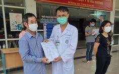 Bệnh nhân COVID-19 nặng nhất ở Hải Dương xuất viện