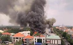 Nhà hàng BBQ sang trọng ở phường Thảo Điền bốc cháy ngùn ngụt giữa trưa 18-3