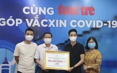 Hơn 7,37 tỉ đồng cho chương trình 'Cùng Tuổi Trẻ góp vắc xin COVID-19'