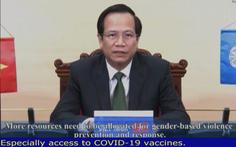 Việt Nam kêu gọi thế giới ưu tiên phụ nữ, trẻ em được tiếp cận vắc xin COVID-19