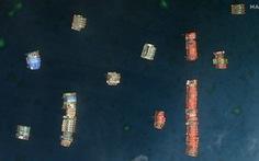 Cận cảnh đội hình tàu Trung Quốc tại Đá Ba Đầu