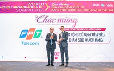 FPT Telecom nhận giải thưởng 'Chất lượng dịch vụ được Khách hàng hài lòng nhất'