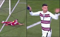 Ronaldo bị 'cướp' bàn thắng phút 90+3, Bồ Đào Nha mất 2 điểm quý giá