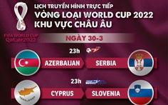 Lịch trực tiếp vòng loại World Cup 2022 châu Âu: Bồ Đào Nha, Bỉ, Hà Lan thi đấu