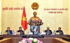 Trình Quốc hội miễn nhiệm các phó chủ tịch Tòng Thị Phóng, Uông Chu Lưu, Phùng Quốc Hiển