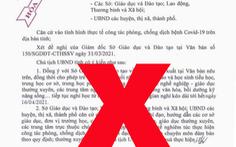 Truy tìm người giả mạo văn bản tỉnh Bắc Ninh cho học sinh nghỉ học