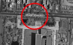 Biểu tình phản đối đảo chính ở Myanmar nhìn từ ảnh vệ tinh