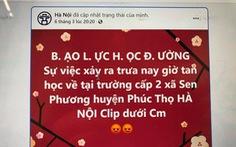 Nữ sinh ở Hà Nội bị đánh hội đồng vì tin nhắn trên Facebook