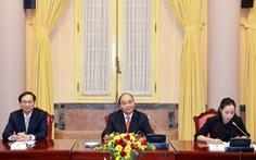 Chủ tịch nước Nguyễn Xuân Phúc tiếp các đại sứ ASEAN