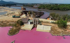 Đầm nước chuyển màu ở Bà Rịa - Vũng Tàu: Phạt, đình chỉ doanh nghiệp xả thải