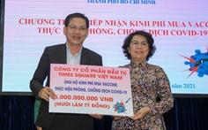 TP.HCM tiếp nhận 200 tỉ mua vắc xin COVID-19